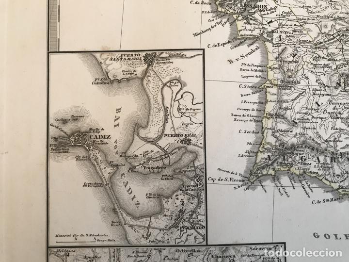 Arte: Gran mapa de España y Portugal en 4 hojas independientes, 1867. Stülpagel/Stieler/Perthes - Foto 31 - 227845095