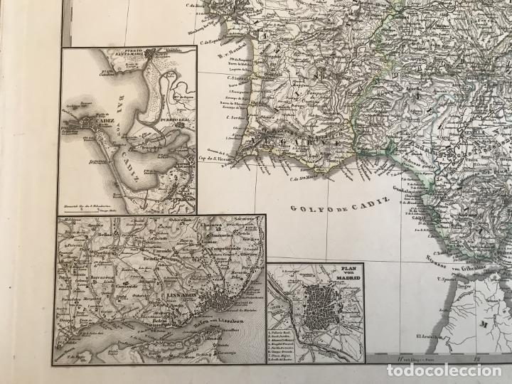 Arte: Gran mapa de España y Portugal en 4 hojas independientes, 1867. Stülpagel/Stieler/Perthes - Foto 32 - 227845095