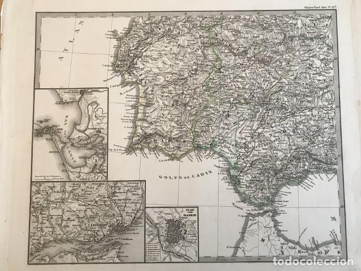 Arte: Gran mapa de España y Portugal en 4 hojas independientes, 1867. Stülpagel/Stieler/Perthes - Foto 33 - 227845095