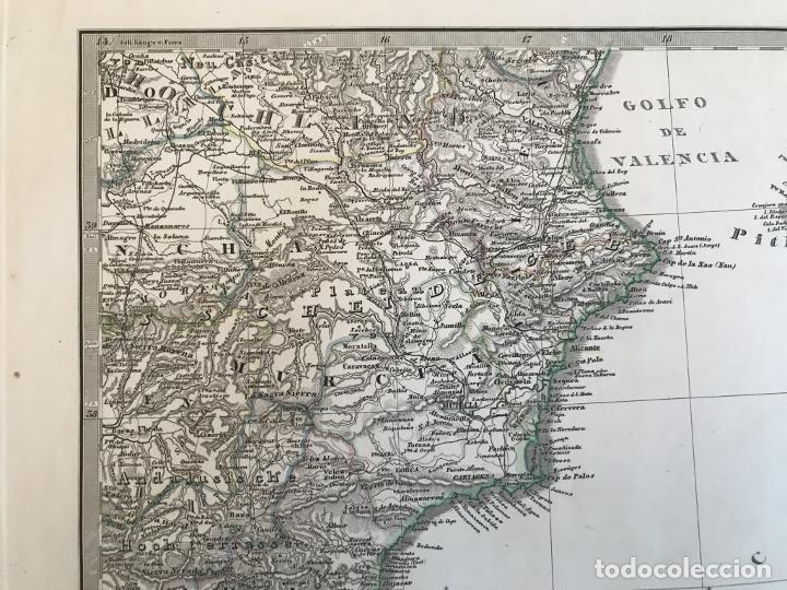 Arte: Gran mapa de España y Portugal en 4 hojas independientes, 1867. Stülpagel/Stieler/Perthes - Foto 37 - 227845095