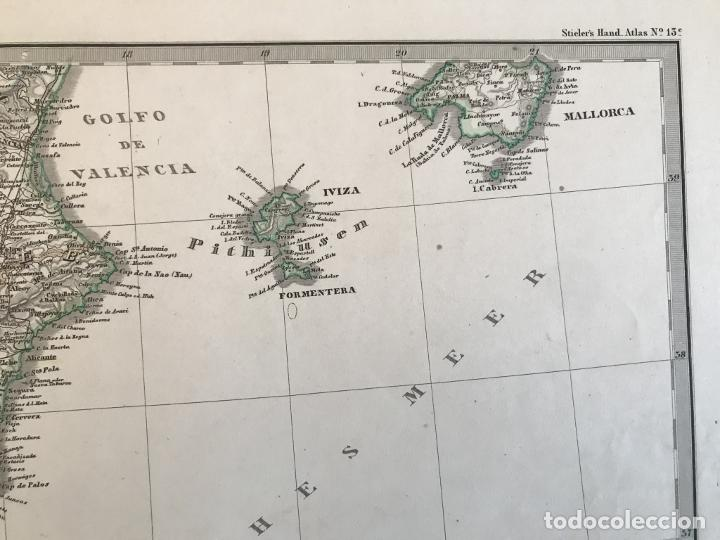 Arte: Gran mapa de España y Portugal en 4 hojas independientes, 1867. Stülpagel/Stieler/Perthes - Foto 38 - 227845095
