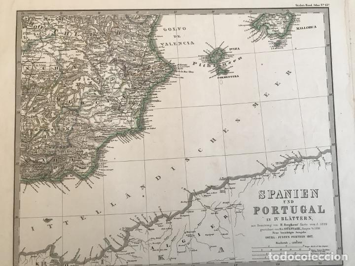 Arte: Gran mapa de España y Portugal en 4 hojas independientes, 1867. Stülpagel/Stieler/Perthes - Foto 42 - 227845095
