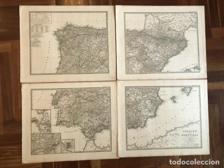 Arte: Gran mapa de España y Portugal en 4 hojas independientes, 1867. Stülpagel/Stieler/Perthes - Foto 45 - 227845095