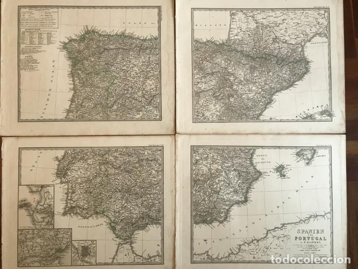 Arte: Gran mapa de España y Portugal en 4 hojas independientes, 1867. Stülpagel/Stieler/Perthes - Foto 46 - 227845095