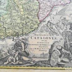 Art: MAPA DE CATALUNYA - HOMANN - AÑO 1707 - ES ORIGINAL. Lote 228301470