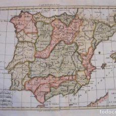 Arte: MAPA DE ESPAÑA Y PORTUGAL, 1770. BONNE. Lote 228943330