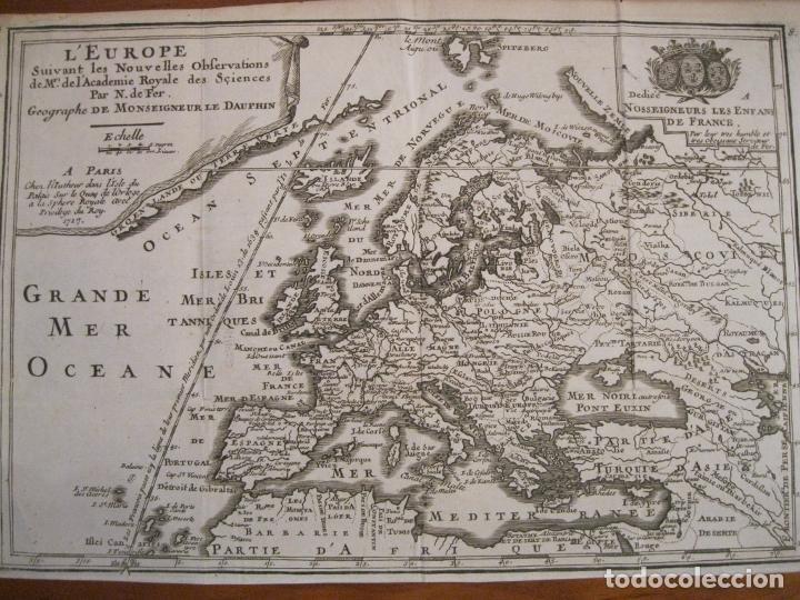 MAPA DE EUROPA, 1717. NICOLÁS DE FER (Arte - Cartografía Antigua (hasta S. XIX))