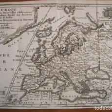 Arte: MAPA DE EUROPA, 1717. NICOLÁS DE FER. Lote 229158265