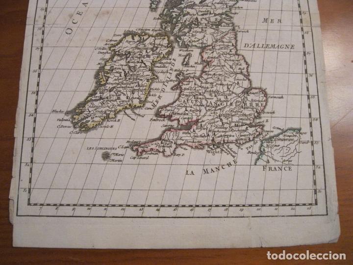 Arte: Mapa de las Islas Británicas (Europa), 1756. Le Rouge - Foto 3 - 229159152