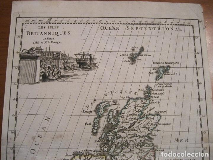 Arte: Mapa de las Islas Británicas (Europa), 1756. Le Rouge - Foto 4 - 229159152