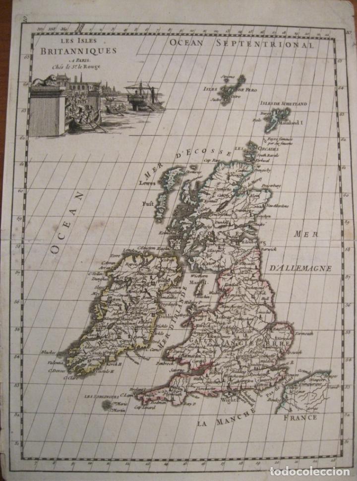 MAPA DE LAS ISLAS BRITÁNICAS (EUROPA), 1756. LE ROUGE (Arte - Cartografía Antigua (hasta S. XIX))
