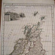 Arte: MAPA DE LAS ISLAS BRITÁNICAS (EUROPA), 1756. LE ROUGE. Lote 229159152