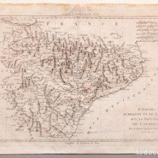 Arte: ROYAUMES D'ARAGON ET DE NAVARRE, AVEC LA PRINCIPAUTÈ DE CATALOGNE - 1787. Lote 229400735