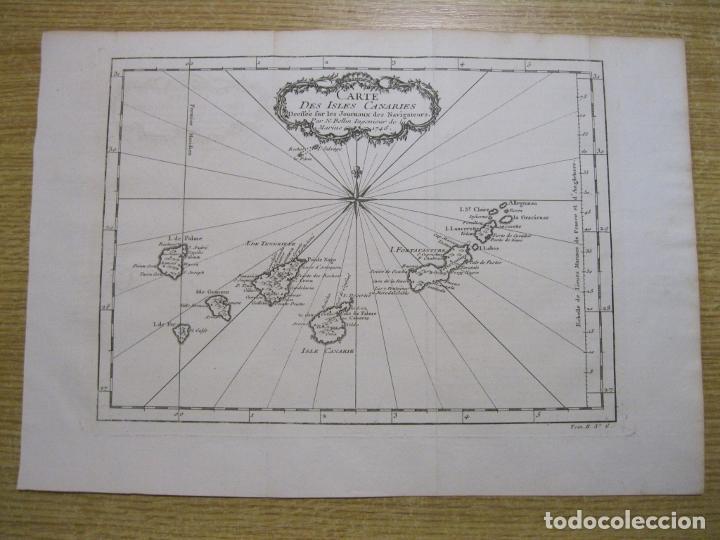 Arte: Mapa de las Islas Canarias (España), 1746. Bellin/Prevost - Foto 2 - 229437155