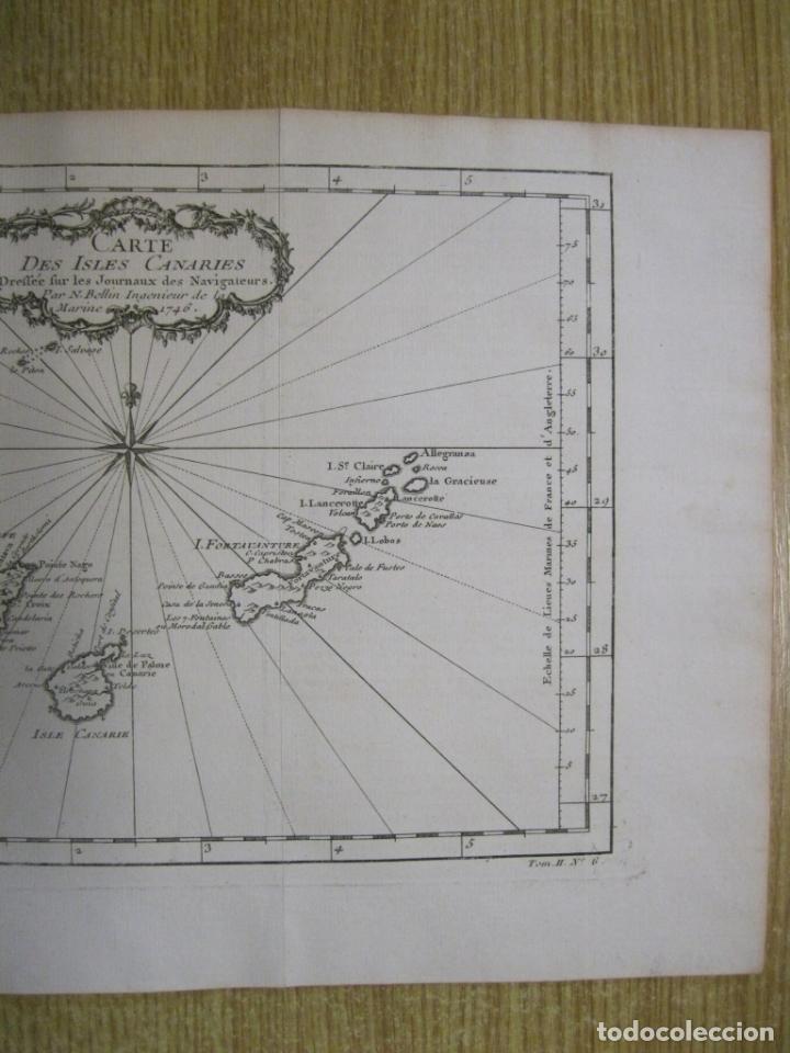 Arte: Mapa de las Islas Canarias (España), 1746. Bellin/Prevost - Foto 5 - 229437155