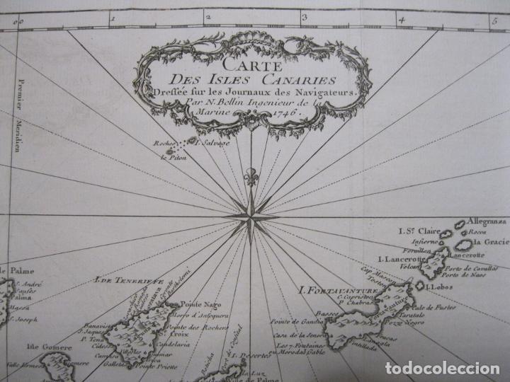 MAPA DE LAS ISLAS CANARIAS (ESPAÑA), 1746. BELLIN/PREVOST (Arte - Cartografía Antigua (hasta S. XIX))