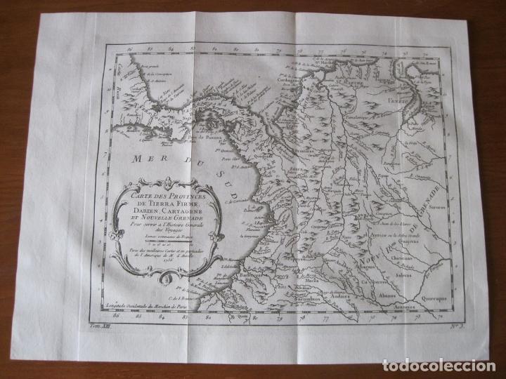 Arte: Mapa de Panamá, Colombia, Venezuela, 1746. Bellin / Anville/ Prevost - Foto 2 - 229975010