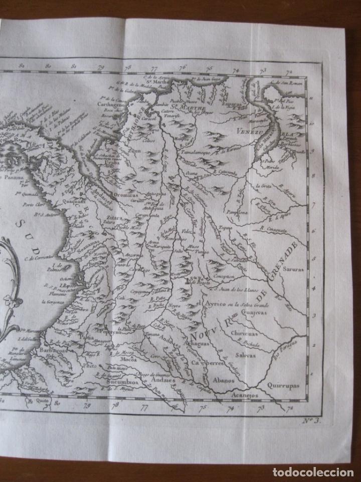 Arte: Mapa de Panamá, Colombia, Venezuela, 1746. Bellin / Anville/ Prevost - Foto 3 - 229975010