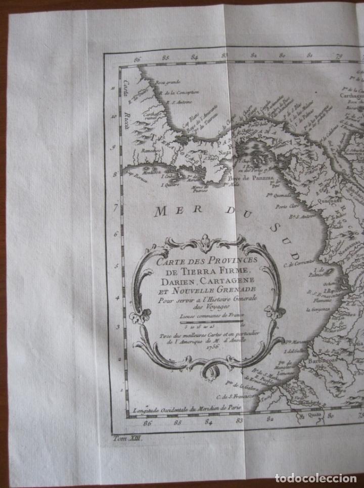 Arte: Mapa de Panamá, Colombia, Venezuela, 1746. Bellin / Anville/ Prevost - Foto 4 - 229975010