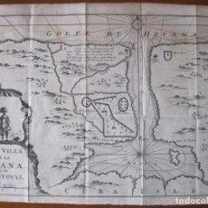 Arte: MAPA DE LA BAHÍA Y LA CIUDAD DE LA HABANA (CUBA, AMÉRICA), 1702. RENNEVILLE. Lote 229975285