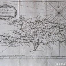 Arte: MAPA DE LA ISLA DE SANTO DOMINGO (AMÉRICA), 1754. BELLIN/PREVOST. Lote 229989355