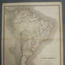 Arte: GRAN MAPA A COLOR DE AMÉRICA DEL SUR, 1844. A. K. JOHNSTON. Lote 230059480