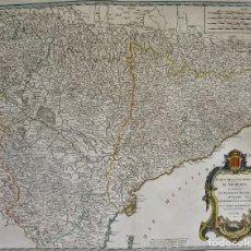 Arte: CATALUÑA, ARAGÓN, NAVARRA ROBERT DE VAUGONDY, 1756, ETATS DE LA COURONNE D 'ARAGON. Lote 230196140
