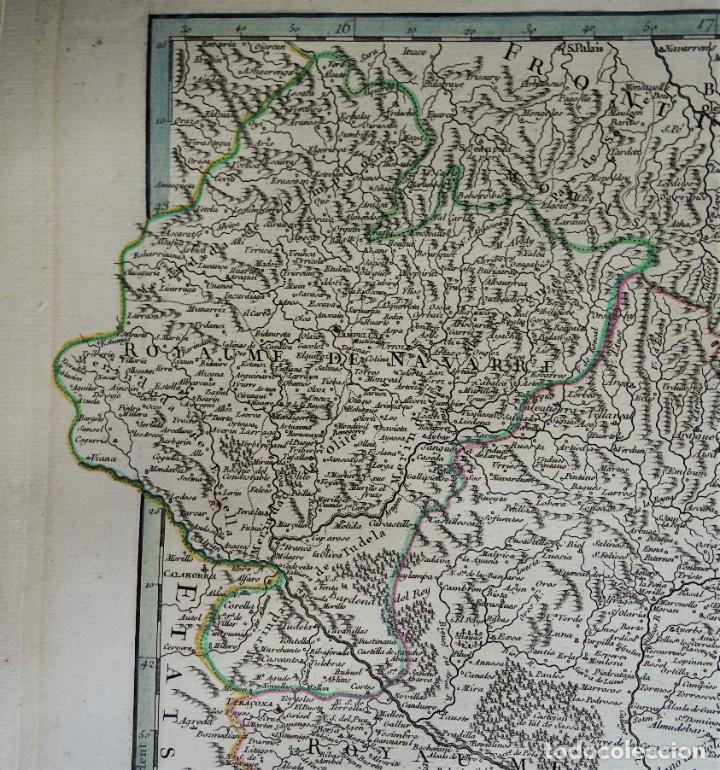 Arte: Cataluña, Aragón, Navarra Robert de Vaugondy, 1756, Etats de la Couronne d Aragon - Foto 6 - 230196140