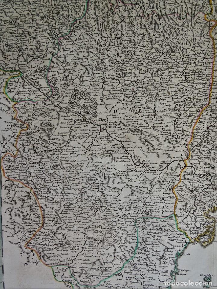 Arte: Cataluña, Aragón, Navarra Robert de Vaugondy, 1756, Etats de la Couronne d Aragon - Foto 7 - 230196140
