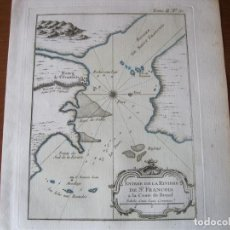 Arte: MAPA DE LA DESEMBOCADURA DEL RÍO SAN FRANCISCO( SERGIPE-ALAGOAS, BRASIL), 1764. BELLIN. Lote 230294100