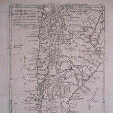 Arte: MAPA DE PERÚ, ARGENTINA, CHILE... 1780. BONNE / RAYNAL. Lote 230769470