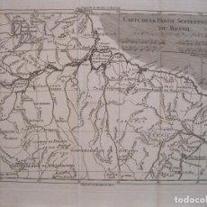 Arte: MAPA DEL NORTE DE BRASIL, 1780. BONNE/RAYNAL. Lote 230811565