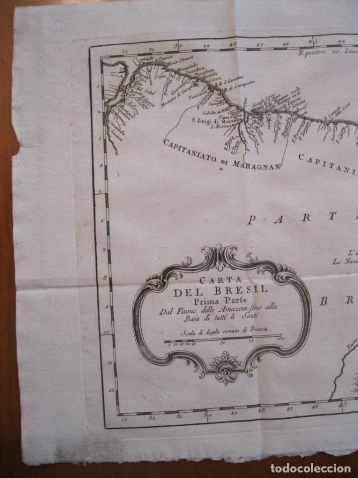 Arte: Mapa del nordeste de Brasil, 1785. Bellin/Prevost - Foto 4 - 230829585