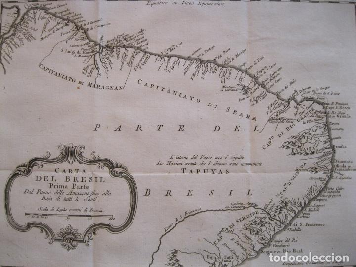 Arte: Mapa del nordeste de Brasil, 1785. Bellin/Prevost - Foto 5 - 230829585