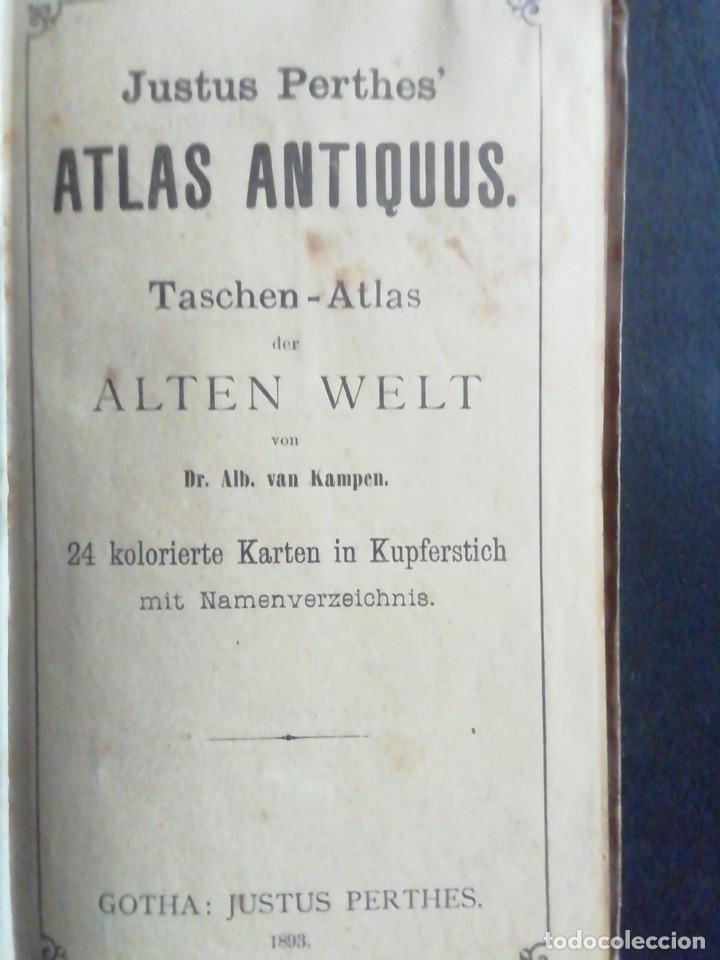 Arte: JUSTUS PERTHES. ATLAS ANTIQUUS DER ALTEN WELT. 1893 - Foto 2 - 231157660