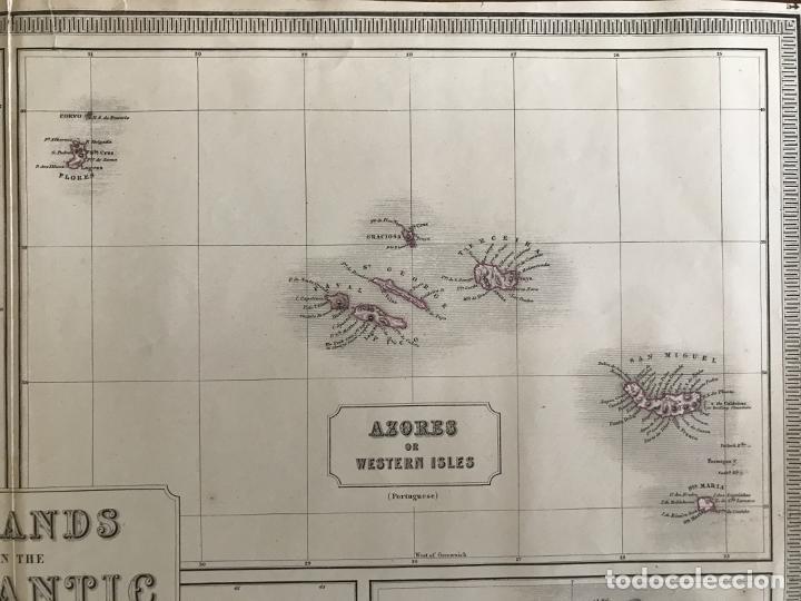 Arte: Gran mapa de las islas del océano Atlántico, 1850. George Philip & Son - Foto 6 - 231824195