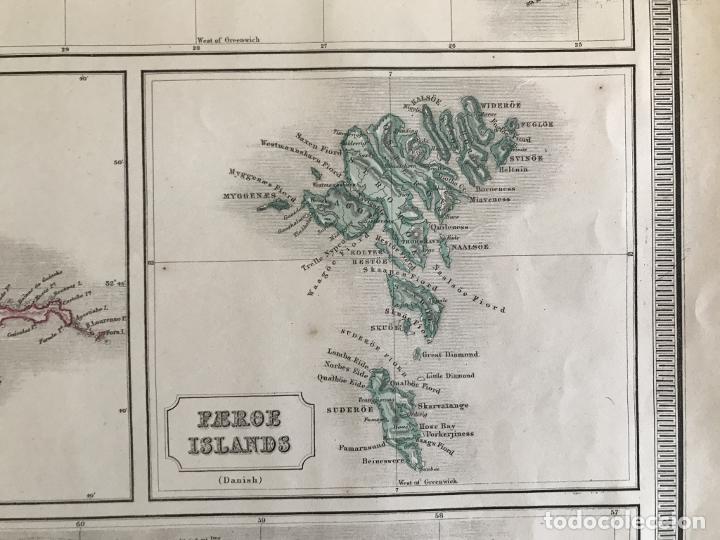 Arte: Gran mapa de las islas del océano Atlántico, 1850. George Philip & Son - Foto 7 - 231824195