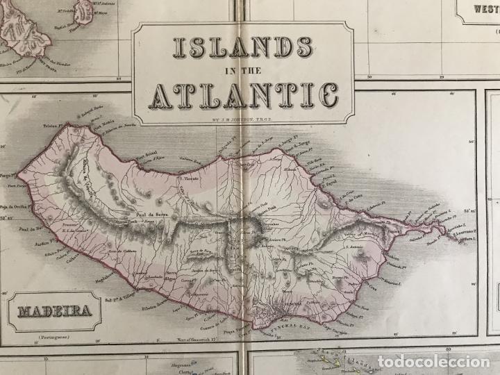Arte: Gran mapa de las islas del océano Atlántico, 1850. George Philip & Son - Foto 9 - 231824195