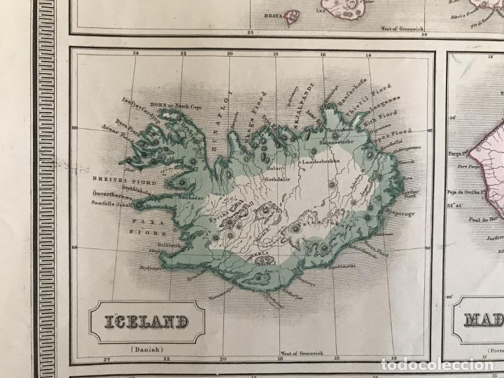 Arte: Gran mapa de las islas del océano Atlántico, 1850. George Philip & Son - Foto 11 - 231824195