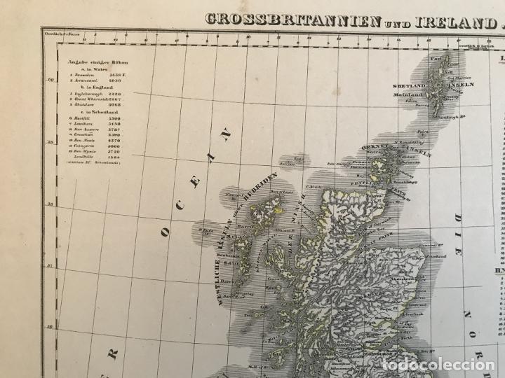 Arte: Mapa de Irlanda y Reino Unido (Europa), 1844.Handtke/Thomas/C. Flemming - Foto 3 - 232188395
