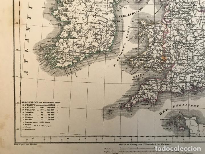 Arte: Mapa de Irlanda y Reino Unido (Europa), 1844.Handtke/Thomas/C. Flemming - Foto 9 - 232188395