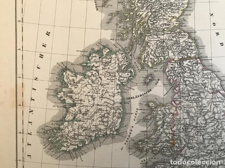 Arte: Mapa de Irlanda y Reino Unido (Europa), 1844.Handtke/Thomas/C. Flemming - Foto 10 - 232188395