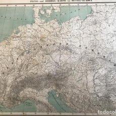 Arte: MAPA A COLOR DE EUROPA CENTRAL, HACIA 1850.HANDTKE/C. FLEMMING/MÜLLER. Lote 232214050