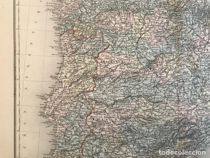 Arte: Gran mapa de España y Portugal, hacia 1885. Migeon/Lacoste/Leocq/Biset - Foto 9 - 232216305