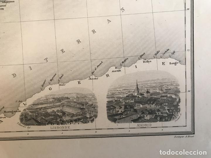 Arte: Gran mapa de España y Portugal, hacia 1885. Migeon/Lacoste/Leocq/Biset - Foto 12 - 232216305