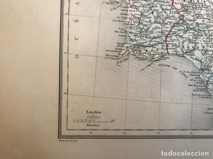 Arte: Gran mapa de España y Portugal, hacia 1885. Migeon/Lacoste/Leocq/Biset - Foto 13 - 232216305