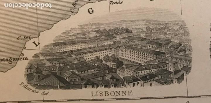 Arte: Gran mapa de España y Portugal, hacia 1885. Migeon/Lacoste/Leocq/Biset - Foto 16 - 232216305