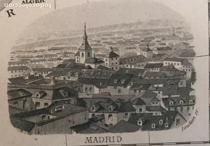 Arte: Gran mapa de España y Portugal, hacia 1885. Migeon/Lacoste/Leocq/Biset - Foto 17 - 232216305