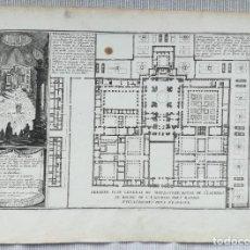 Arte: PLANO GRABADO DE EL ESCORIAL - DE FER - AÑO 1705. Lote 232423440