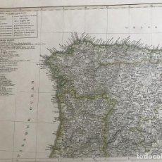 Arte: GRAN MAPA DE GALICIA, ASTURIAS Y CASTILLA (ESPAÑA) Y NORTE DE PORTUGAL, 1856. STIELER/PERTHES. Lote 232954860